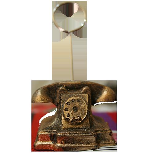 پایه عکس رومیزی طرح تلفن طلایی