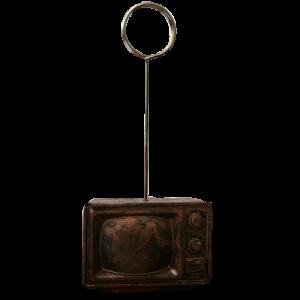 پایه عکس رومیزی طرح تلویزیون سیاه و سفید برنز
