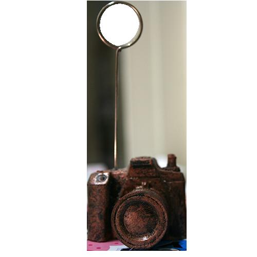 پایه عکس رومیزی طرح دوربین عکاسی برنز
