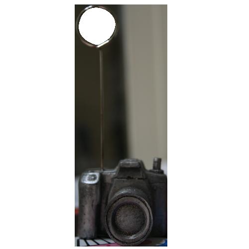 پایه عکس رومیزی طرح دوربین عکاسی نقره ای