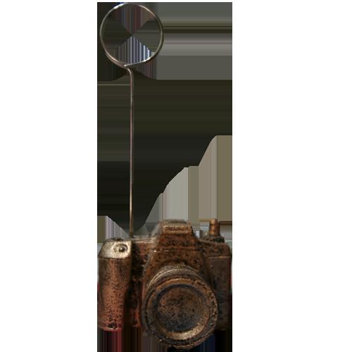 پایه عکس رومیزی طرح دوربین عکاسی طلایی