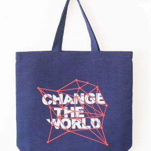 ساک دستی طرح change the world