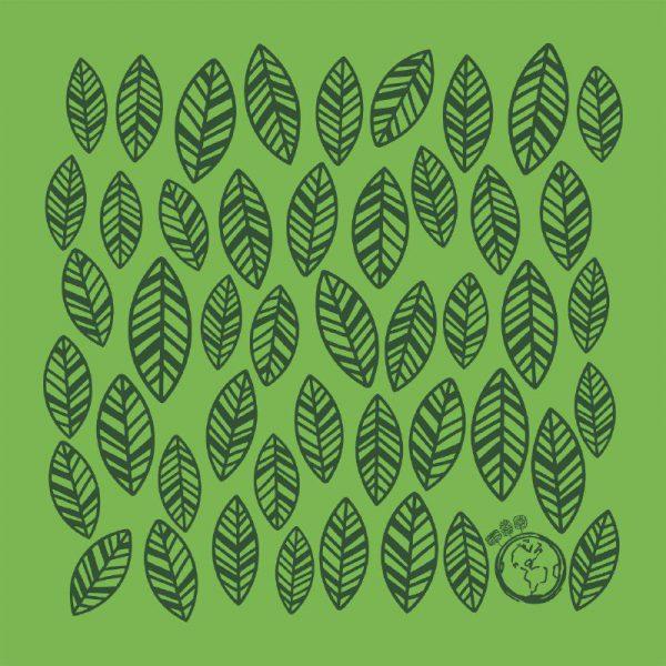 کادوپیچ پارچهای گوشه طرح سبز برگ