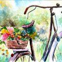 زیر لیوانی طرح گل فروش