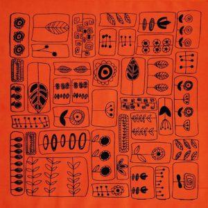 پارچه کادویی نارنجی