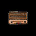 پیکسل چوبی طرح رادیو قدیمی