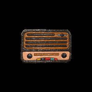 پیکسل طرح رادیو قدیمی