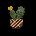 پیکسل چوبی طرح کاکتوس گلدار
