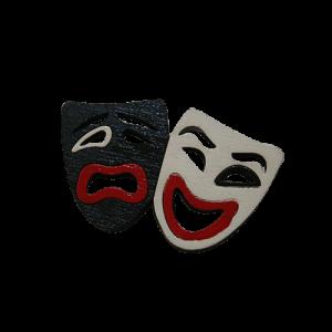 پیکسل طرح خنده و گریه تئاتر