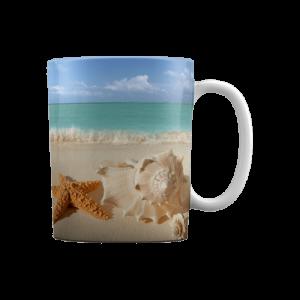 لیوان سرامیکی طرح ساحل