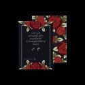 کارت عروسی طرح کلاسیک رز قرمز