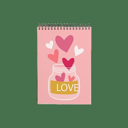 دفتر یادداشت طرح قلب قلبی