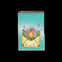 دفتر یادداشت طرح پاکت گل