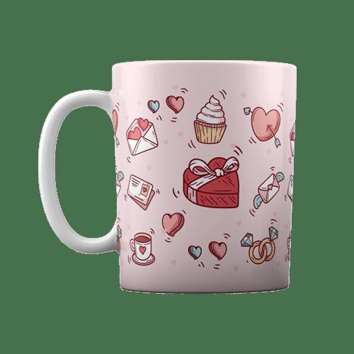 لیوان سرامیکی طرح بسته عاشقانه