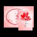 کارت تبریک طرح قلب قرمز