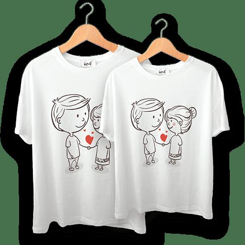 تی شرت طرح ما دو نفر