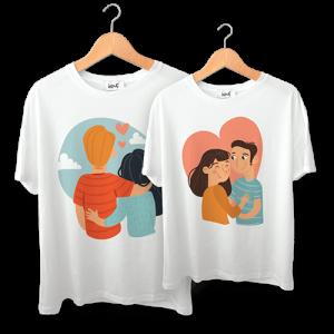 تی شرت طرح عاشقانه
