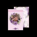 کارت عروسی طرح زنبق یاسی