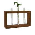 گلدون چوبی دست ساز سه شیشه
