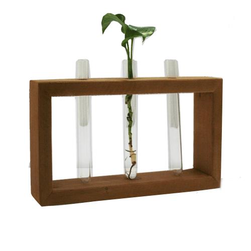 گلدون چوبی سه شیشه