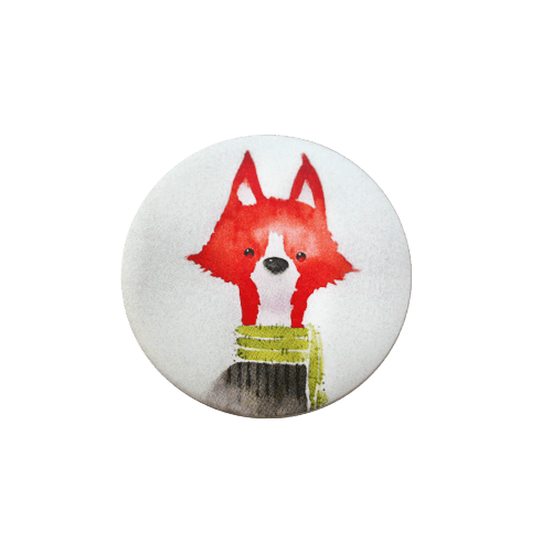 پیکسل فلزی طرح روباه قرمز