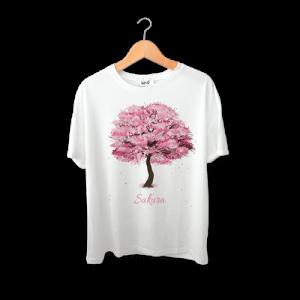 تی شرت طرح درخت بهاری