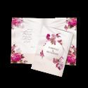 کارت عروسی طرح گل های بهاری