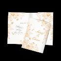 کارت عروسی طرح گل های فانتزی