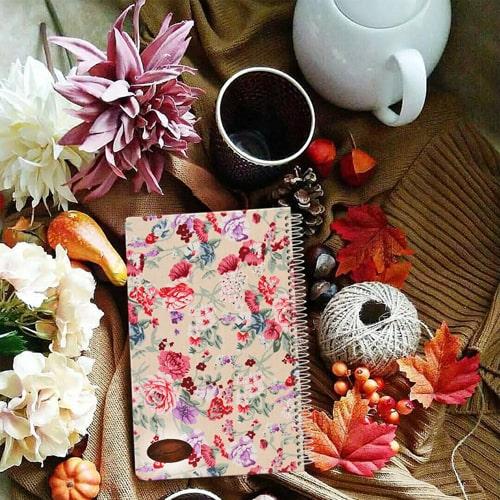 دفتر یادداشت جلد پارچه ای