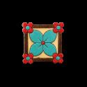پیکسل چوبی طرح گل