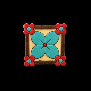 پیکسل چوبی گل