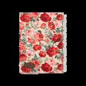 دفتر یادداشت جلد پارچه ای طرح رز قرمز