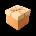 جعبه کادویی طرح پرفکت کرم قهوه ای