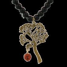 گردن آویز با پلاک درخت آرزو